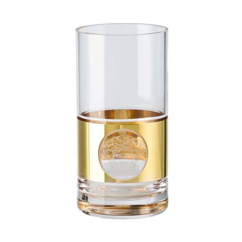 The Versace Madness by Rosenthal Versace Medusa Madness Gold Kristall Longdrinkglas