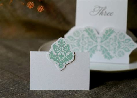 mint wedding place cards mint damask cards place cards weddings and entertaining 2553886