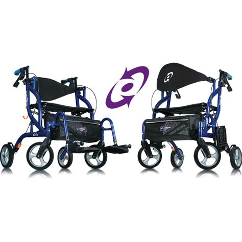 Rollator Transport Chair by Amg Airgo 174 Fusion Side Folding Rollator