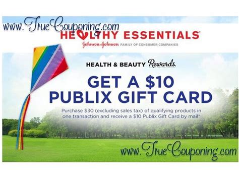 Publix Gift Cards For Other Stores - free 10 publix gift card wyb 30 of johnson johnson products at publix valid 7 10
