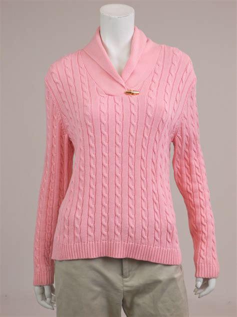 cable knit shawl ralph m womens sweater pink 100 cotton shawl