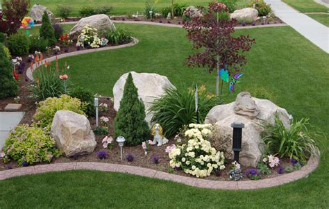 rock front yard southwest landscaping ideas colorful rock river