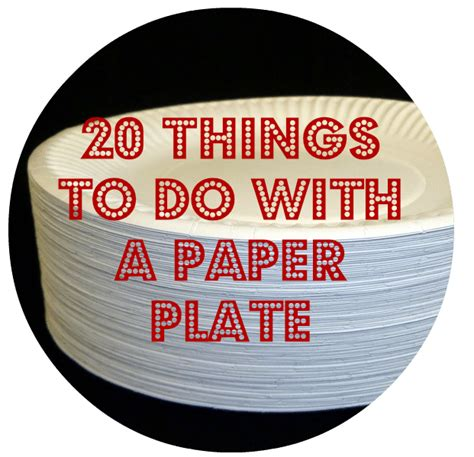 Things To Make With Paper Plates - 20 things to do with a paper plate monkey and mouse