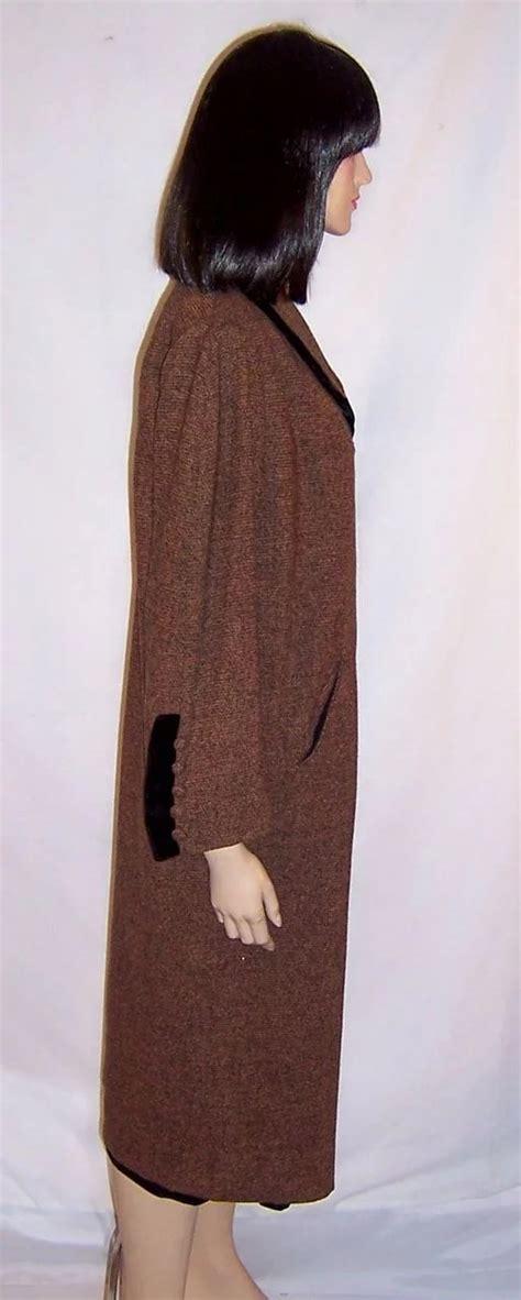 Grace Indonesia102 Brown Original grace da pozzo original 1940 s brown black tweed coat