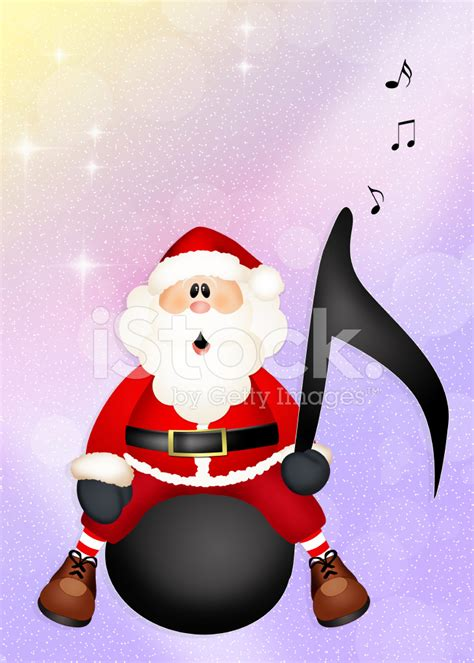 santa claus on music note stock photos freeimages com