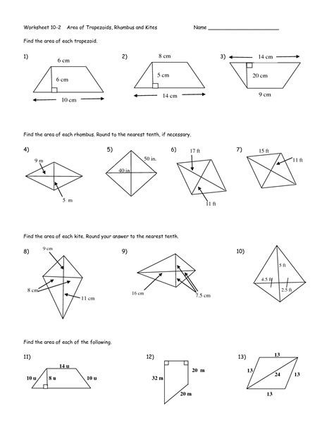 trapezoid and kites worksheet 12 best images of trap and kites worksheet geometry kites and trapezoids worksheet geometry