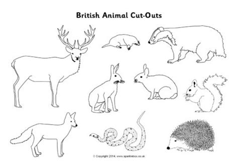 British Animal Cut Outs Black And White Sb10304