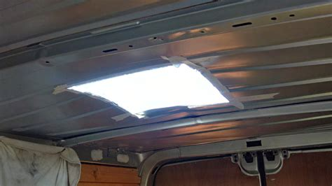 Tv Roof fitting a roof light to a self build cervan conversion vanlife tv