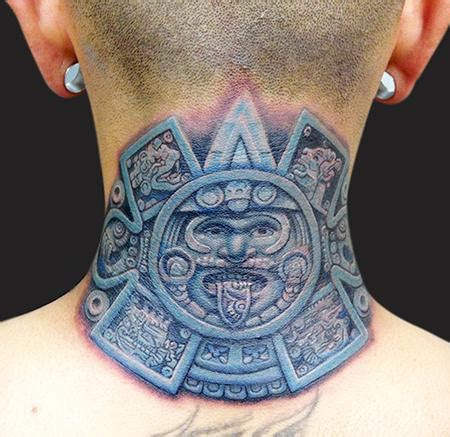 aztec calendar tattoos aztec calendar by marc durrant tattoonow