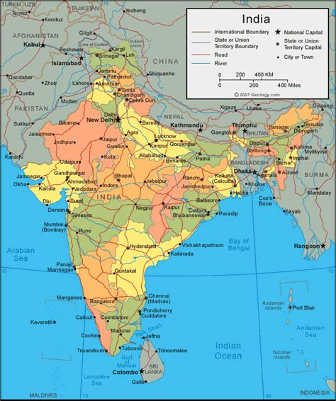 of india map of india