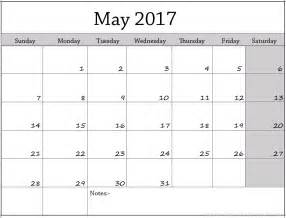 plain calendar template may 2017 blank calendar printable calendar