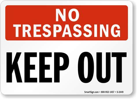 No Keep no trespassing sign keep out sign sku s 2449