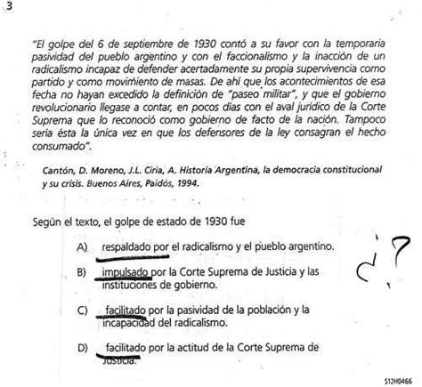 preguntas de historia argentina multiple choice una evaluaci 243 n que cosech 243 cr 237 ticas en los secundarios