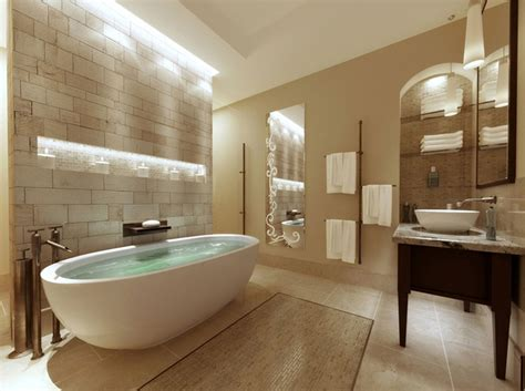 tranquil spa inspired bathroom powder room