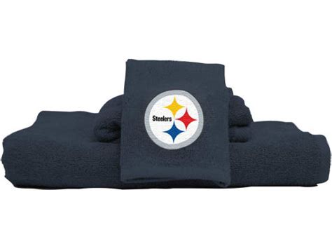 steelers bathroom pittsburgh steelers northwest company 3 piece towel bath set lids com