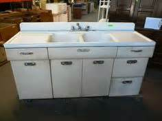 vintage retro metal kitchen sink unit cabinet