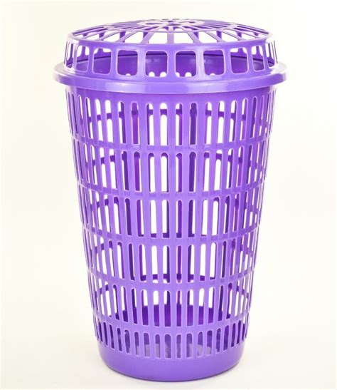 plastic laundry with lid circular plastic laundry linen basket bin storage her