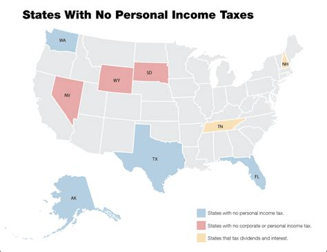 map of us states by income npr states with no personal income tax