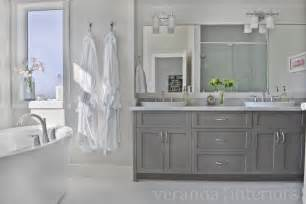 Gray Bathroom Cabinets Gray Cabinets Contemporary Bathroom Veranda Interiors
