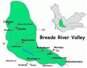 breede river valley map