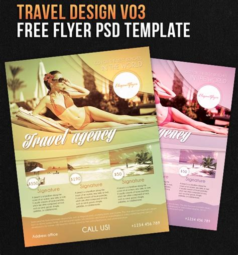 free travel flyer templates 122 free psd flyer templates to make use of offline