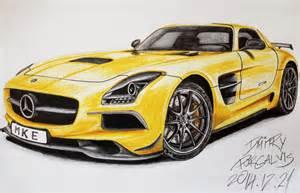 How To Draw A Mercedes Sls Amg 2014 Mercedes Sls Amg Black Series Drawing