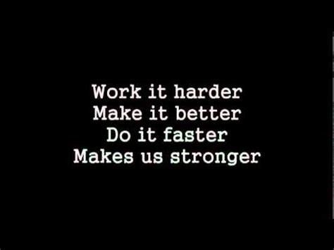 harder better faster stronger lyrics harder better faster stronger extended version