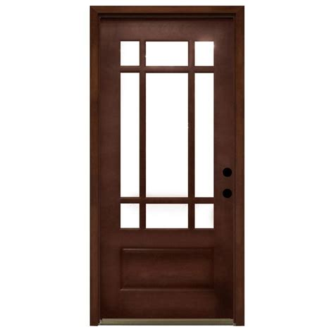 Wooden Exterior Doors With Glass Single Door Doors With Glass Wood Doors Front Doors Doors The Home Depot