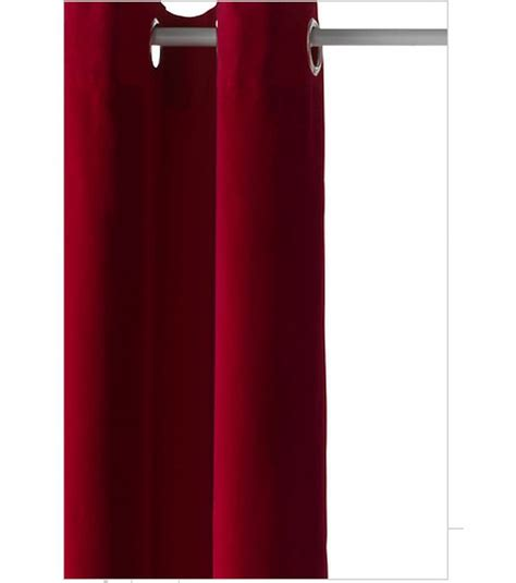 Ikea sanela curtains drapes 2 panels red velvet 98 quot grommets
