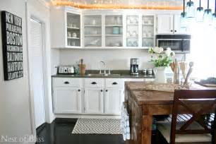 How Can I Paint My Kitchen Cabinets Farmhouse Kitchen Tour Updated Nest Of Bliss
