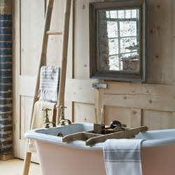 Reclaimed rustic bathroom traditional bathroom design housetohome