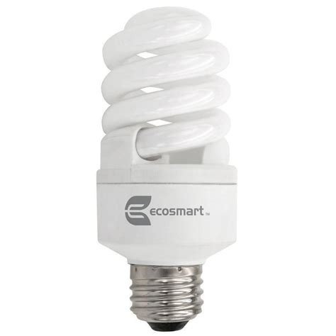 dimmable cfl light bulbs ecosmart 60w equivalent daylight 5000k spiral dimmable