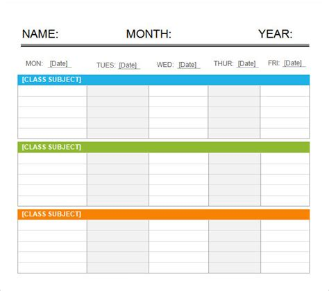 Weekend Calendar Template sle weekend schedule 6 documents in word pdf