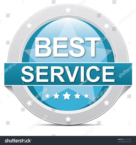 best service blue best service button banner on white stock photo