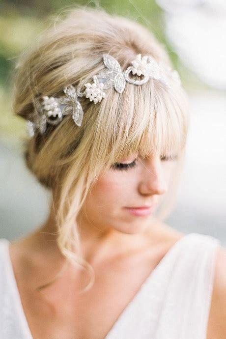 Brautfrisur Mit Perlen by Brautfrisur Mittellanges Haar Perlen