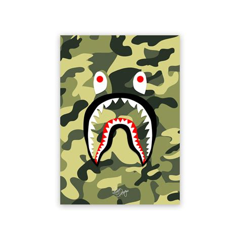 Bape Shark Camo rhys designs bape shark green camo