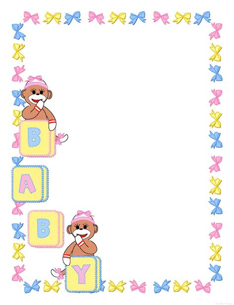free baby shower borders templates templates clipart baby pencil and in color templates