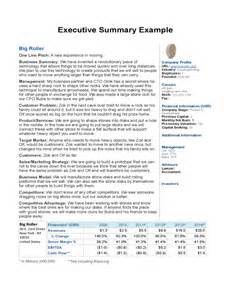 sample executive summary example free download