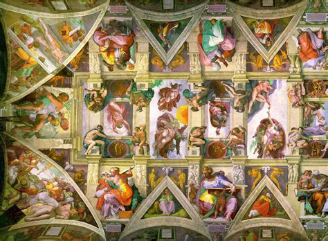Sistine Chapel Ceiling Layout by Culture Mechanism The Sistine Chapel
