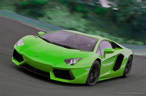 Green lamborghini aventador HD wallpaper #639603