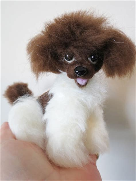 parti poodle puppies designs by delightful dogs puppies needle felted by