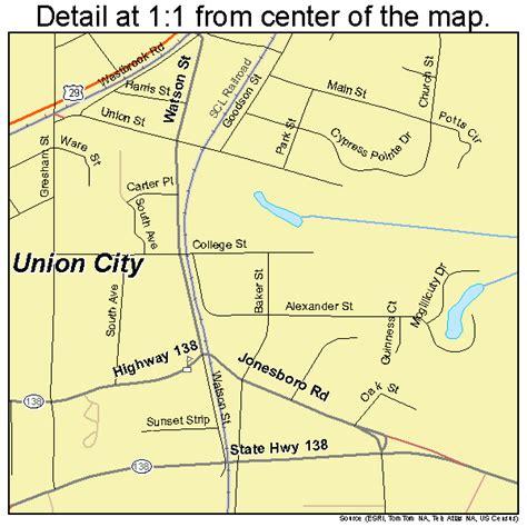union city georgia map union city georgia street map 1378324