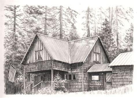 cabin drawings pencil drawing of wilsonia cabin pencil pinterest