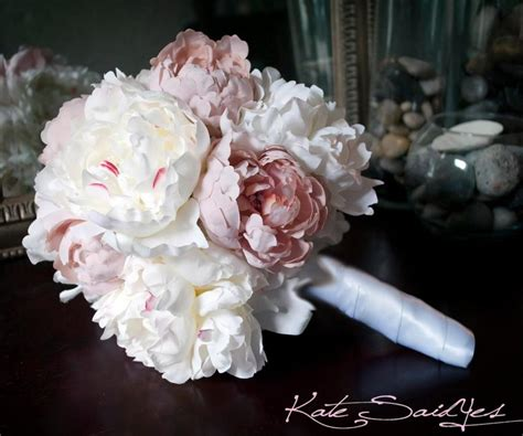 pink peonies wedding wedding bouquet peony bouquet ivory and blush pink peony