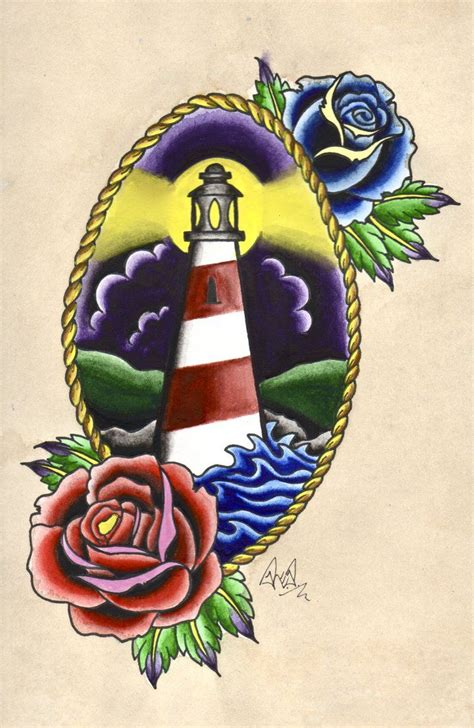 traditional lighthouse tattoo lighthouse drawings traditional watercolour