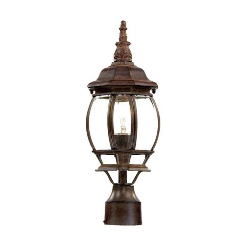 Home Depot Lighting Fixtures Acclaim Lighting Chateau 1 Light Burled Walnut Outdoor Post Mount Light Fixture 5057bw The