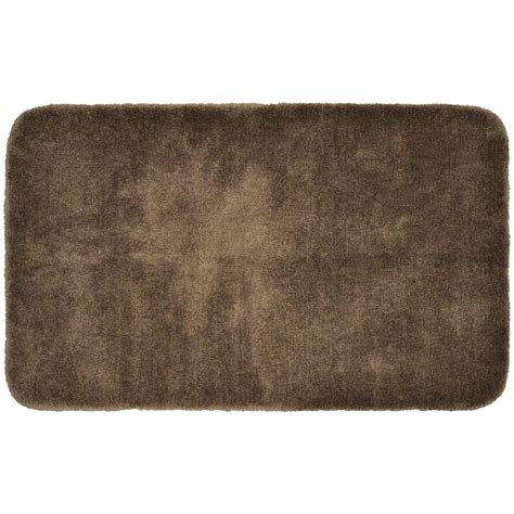 Garland Rug Finest Luxury Chocolate 30 In X 50 In Washable Bathroom Rugs