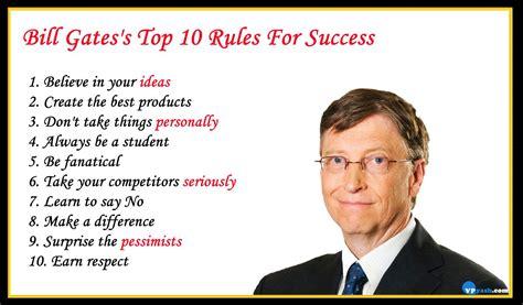bill gates success biography bill gates s top 10 rules for success inspiring writer