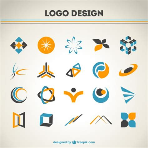 set of 300 free logo templates