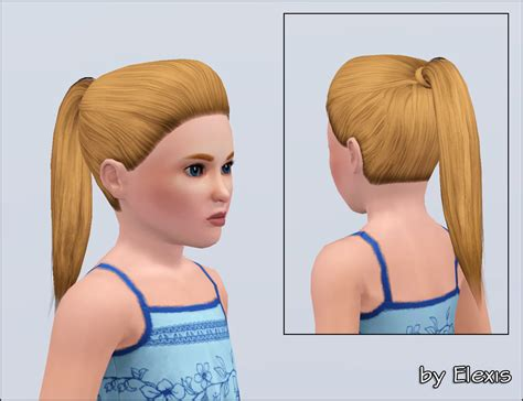 ponytailsims 4 child mod the sims quot keep it simple quot ponytail for female sims